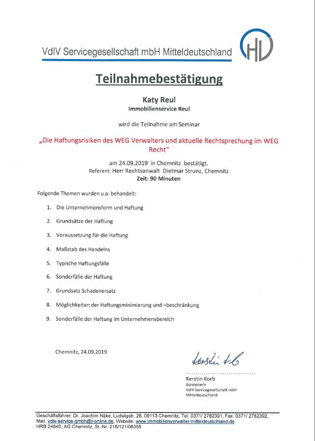 HV Teilnahmebestätigung 24.09.2019